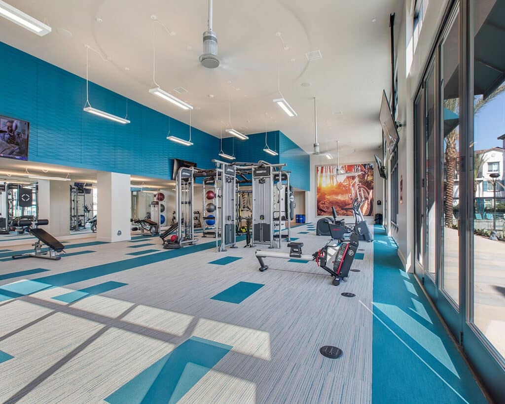 The Crossings of Chino Hills fitness center with workout machines