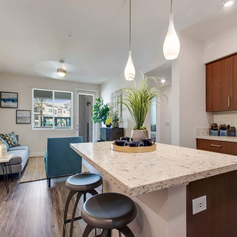 furnished kitchen with decor