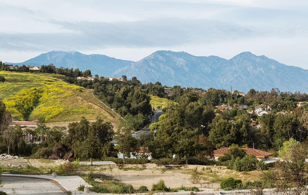 Mountain view of Chino Hills